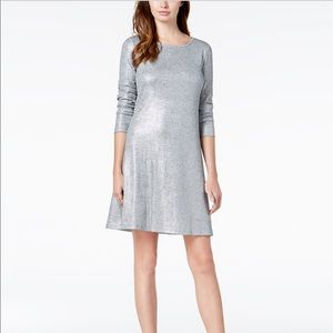 NWT Bar III metallic grey dress 👗 large women's